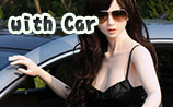 beauty type 160plus doll Kayla with car