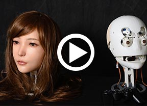 DS silicone doll robotic head video