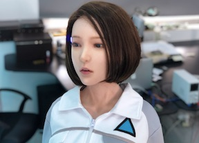 DS silicone doll robotic video, cosplay Detroit become human