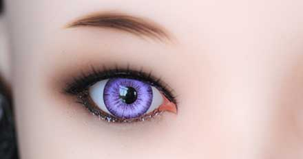 doll Purple color eye