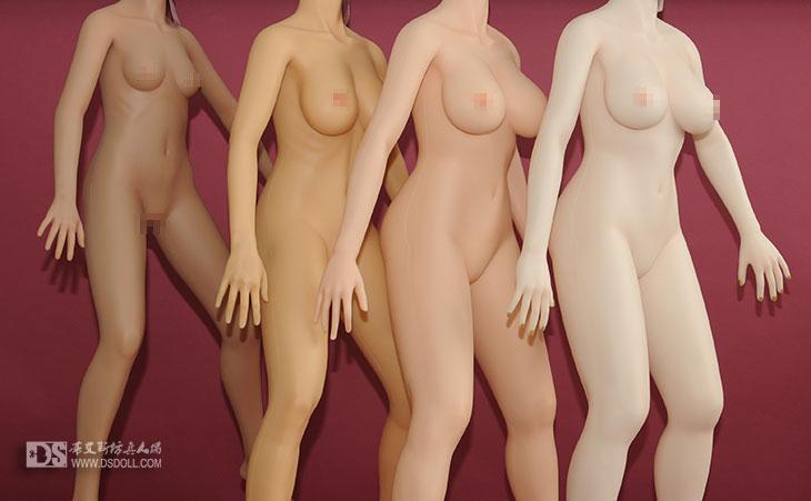 4 kinds skin colors of ds doll